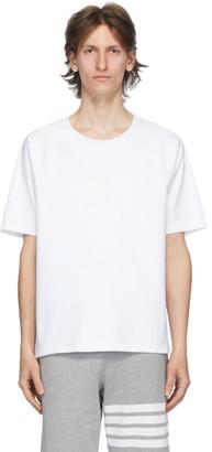 Thom Browne White Interlocking Stripe T-Shirt