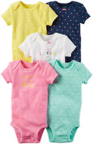 Carter's Little Baby Basics Girl 5-Pack Short Sleeve Bodysuits