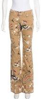 Just Cavalli Mid-Rise Flared Jeans