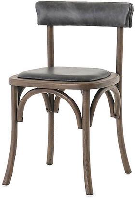 One Kings Lane Benson Dining Chair - Smoke Leather