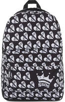 ROCK SAX Printed 5 Seconds Of Summer Rainbow Safety Pin Heart Print Backpack