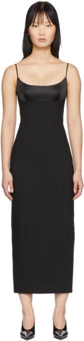 Alexander Wang Black Tailored Cami Long Dress