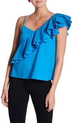 Free Press Asymmetrical Ruffled Tank Top