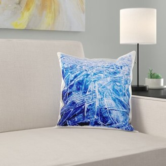 Greenland East Urban Home Freshwater Ice Detail, Bredefjord, Pillow Cover East Urban Home