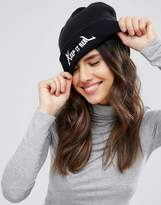 Monki Keep It Real Beanie Hat