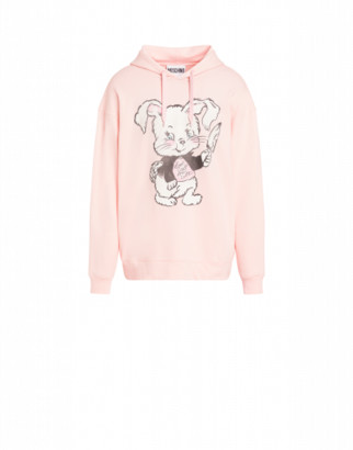 Moschino Don't Call Me Cute Cotton Sweatshirt Man Pink Size 44 It - (34 Us)