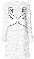 Victoria Victoria Beckham swan embroidered dress
