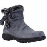 Khombu Isabella Memory Foam Short Winter Boots, Grey.