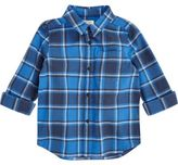 River Island Mini boys blue check shirt
