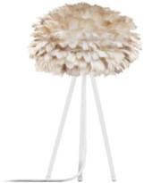 EOS Umage UMAGE - Mini Light Brown Feather White Tripod Table Lamp - Brown/White