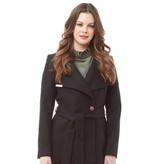 Ted Baker Womens Keyla Short Wrap Cashmere Blend Coat Black