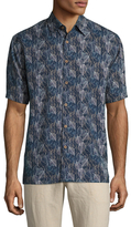 Toscano Short Sleeve Silk Leaves Sportshirt