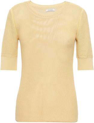 Nina Ricci Crochet-trimmed Open-knit Top