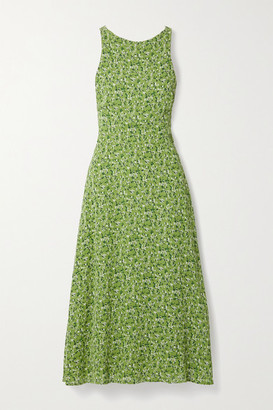 Reformation Harleen Open-back Floral-print Crepe De Chine Midi Dress