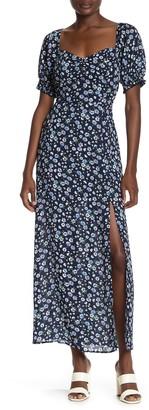 Rowa Floral Print Maxi Dress