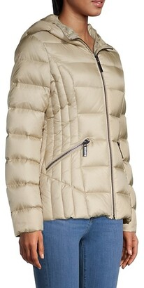 Dawn Levy Nikki Fox Fur-Trim Puffer Jacket