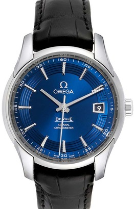Omega Blue Stainless Steel DeVille Hour Vision 431.33.41.21.03.001 Men's Wristwatch 41 MM