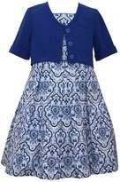 Bonnie Jean Girls 7-16 Ikat Dress & Cardigan Set