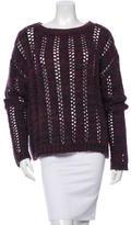 Rachel Zoe Wool Blend Open Knit Sweater