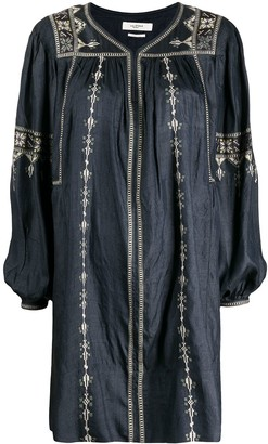 Etoile Isabel Marant Toscaline embroidered silk dress