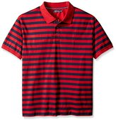 Nautica Men's Big & Tall Striped Polo Shirt