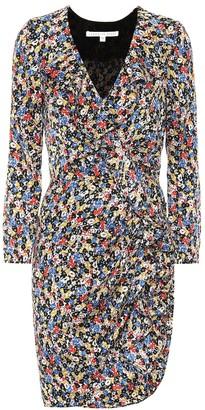 Veronica Beard Minna floral stretch silk minidress