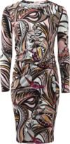 Emilio Pucci Printed Blouson Dress