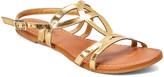 Star Bay Women's Sandals Gold - Gold Strap-Accent Sandal - Women