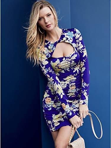 GUESS Women's Long Sleeve Joslyn Dress