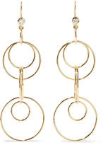 Ippolita Glamazon Jet Set 18-karat Gold Diamond Earrings - one size