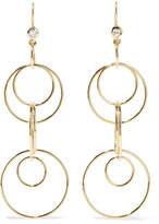 Ippolita Glamazon Jet Set 18-karat Gold Diamond Earrings