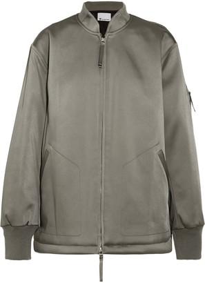 Alexander Wang Oversized Satin Bomber Jacket