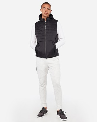 Express Exp Nyc Zip Front Water-Resistant Puffer Vest