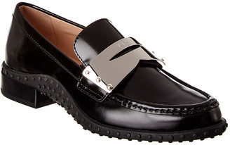 Tod's Contrast Penny Bar Leather Loafer