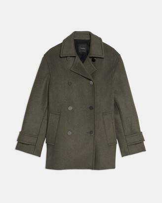 Theory Utility Peacoat in Recycled Wool