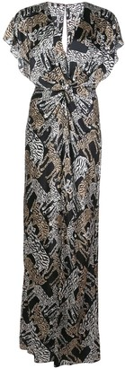 Prabal Gurung safari twist front gown