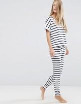 Asos Breton Stripe Tee & Legging Pajama Set