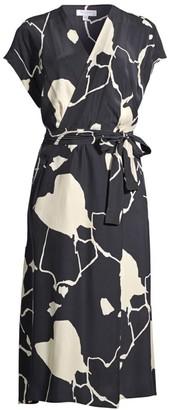 Equipment Bijou Short-Sleeve Tie-Waist Dress