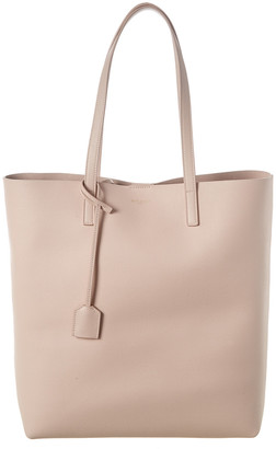 Saint Laurent Medium North/South Leather Shopper Tote