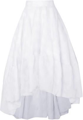Antonio Berardi Asymmetric Silk-organza Midi Skirt