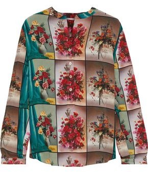 Stella McCartney Eva Printed Silk Crepe De Chine Blouse