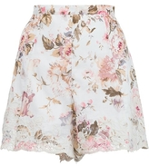 Zimmermann Eden Floral Embroidered Short