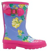 Joules Girls' Floral Print Rain Boots - Blue