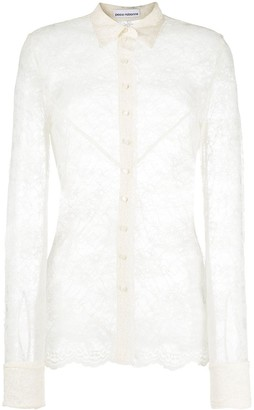 Paco Rabanne Sheer Lace Shirt