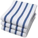 Now Designs Basketweave Kitchen Towel, Set of 3, Royal Blue