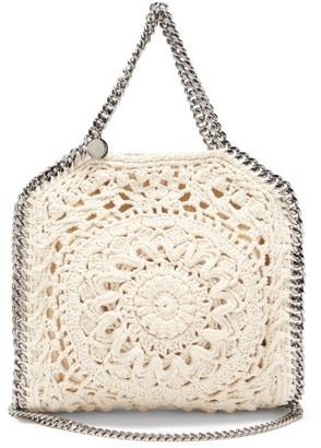 Stella McCartney Falabella Small Crocheted Tote Bag - Ivory