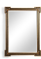 The Well Appointed House Richards Wall Mirror in Black and Gold