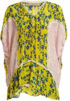 Preen Line Ivy Floral-print Lace-trimmed Blouse - Womens - Yellow Multi