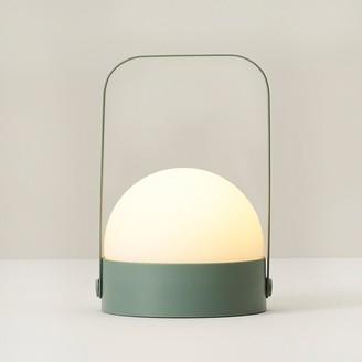 Indigo Large Orb Led Lantern Green