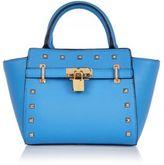 River Island Girls blue padlock tote bag